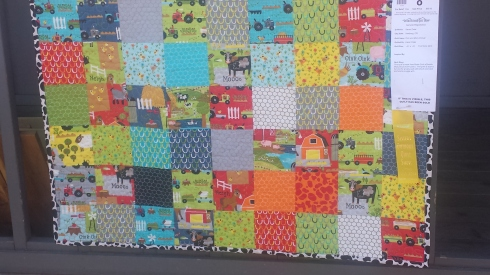 this one is super cute with some of the squares being farm animals. super  cute for a little one's bed