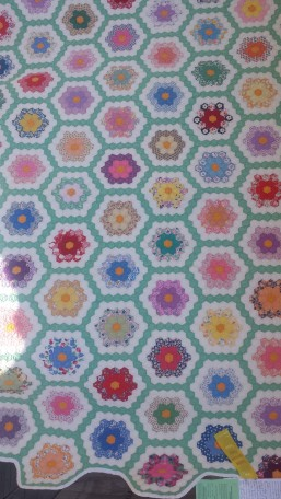 i love the colors - and the hexagons!