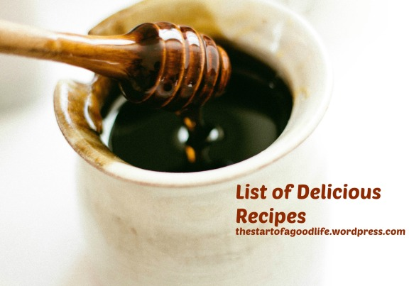 list of delicious recipes