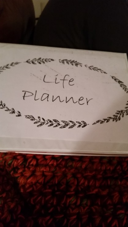first put-together of the planner!