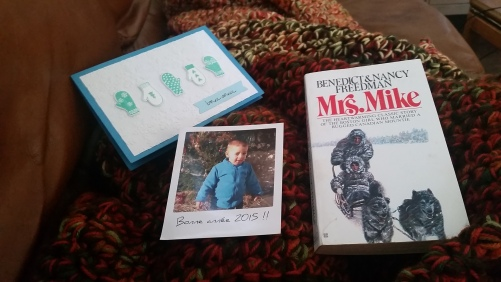 two surprises in the mail recently! a picture of my nephew in France and a new book to read