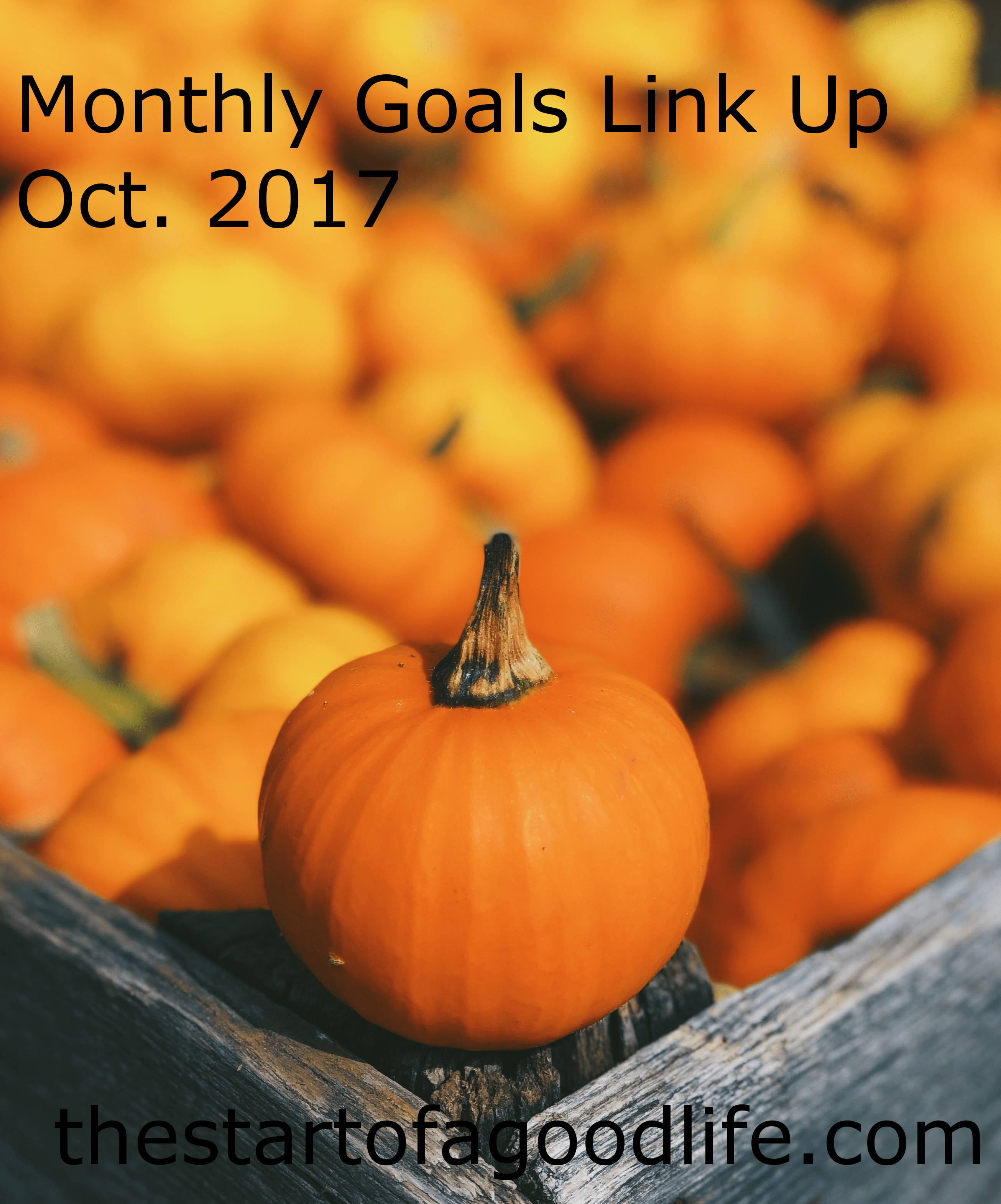 Monthly Goals Link-up : Oct. 2017